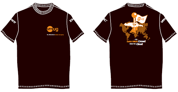 Dutch VMUG t-Shirts for VMworld Copenhagen