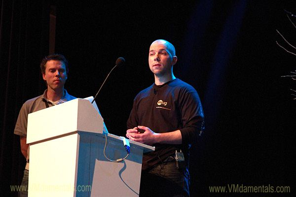 Willem van Engeland and Duncan Epping shedding some light on VMware's vCloud Director software